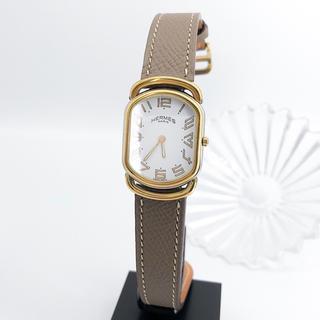 Hermes - 【仕上済/ベルト2本】エルメス ラリー コンビ ゴールド レディース 腕時計