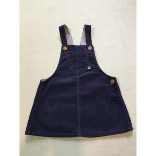 ザラキッズ(ZARA KIDS)のzarababy 80 ザラ ベビー 女の子 ジャンパースカート(ワンピース)