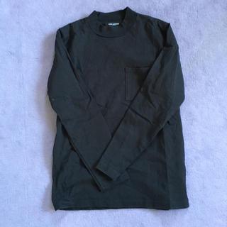 ナノユニバース(nano・universe)のnano・universe アメリカンコットンモックネックTシャツ(黒)(Tシャツ/カットソー(七分/長袖))