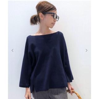L'Appartement DEUXIEME CLASSE - Wool Knit プルオーバー  ネイビー  アパルトモン
