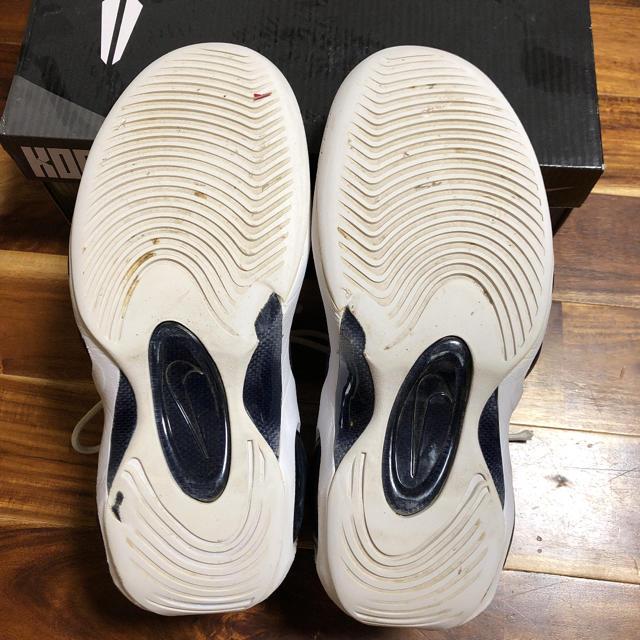 NIKE(ナイキ)のズームフライト 95 白 紺 27.5cm メンズの靴/シューズ(スニーカー)の商品写真