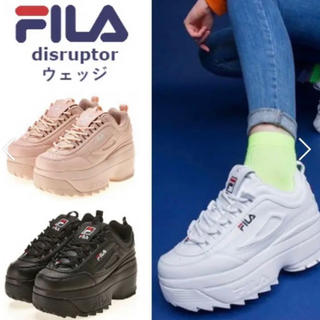 フィラ(FILA)のフィラ FILA ディスラプターウェッジ 厚底 スニーカー(スニーカー)