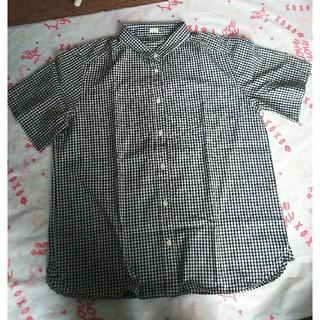 ジーユー(GU)のGU  チェック半袖シャツ Lサイズ(シャツ/ブラウス(半袖/袖なし))