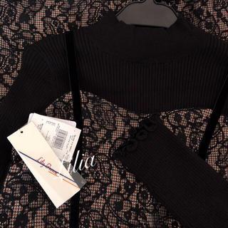 Lily Brown - 再入荷新品タグ付き リリーブラウン ニットトップス×キャミワンピセット ブラック