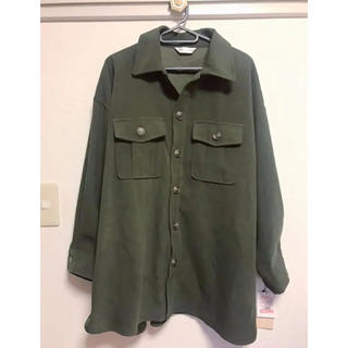 シマムラ(しまむら)のベルト付カーキシャツ ジャケット 新品タグ付き(ミリタリージャケット)