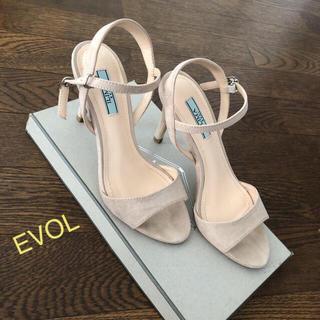 イーボル(EVOL)のイーボル 美品 サンダル パンプス スエード(サンダル)