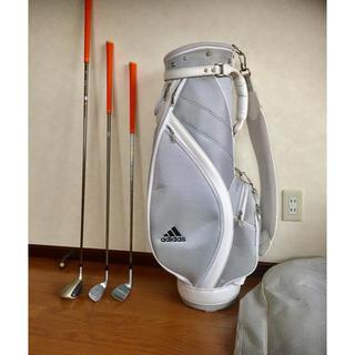 adidas - レディースゴルフセット !ゴルフスタート★バック+クラブ3本!★グリップ3本新品