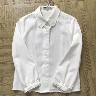 シマムラ(しまむら)の白 ワイシャツ キッズ 120(ブラウス)