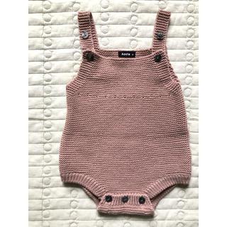 Caramel baby&child  - Aosta 美品 ニットロンパース  M くすみピンク