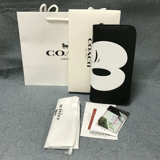 COACH - 未使用品COACH 長財布 コーチメンズレディースジッパー財布 54000