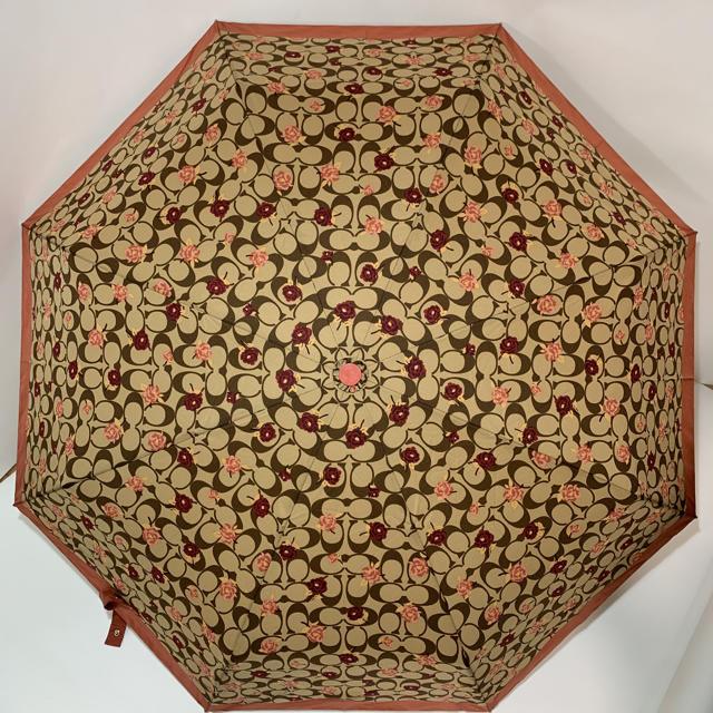 COACH(コーチ)の【新品】COACH コーチ 折りたたみ傘 レディースのファッション小物(傘)の商品写真