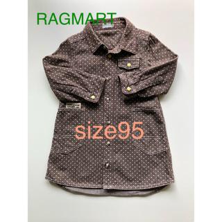 ラグマート(RAG MART)の【美品】ラグマート シャツワンピ 95(ワンピース)