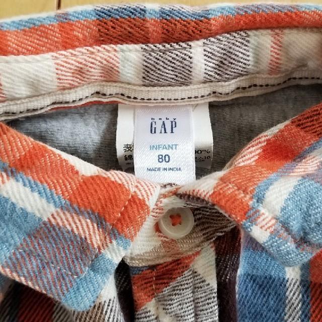 GAP(ギャップ)の80cm GAP チェックシャツ キッズ/ベビー/マタニティのベビー服(~85cm)(シャツ/カットソー)の商品写真