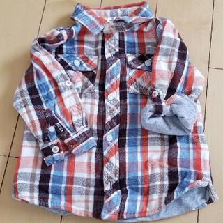 ギャップ(GAP)の80cm GAP チェックシャツ(シャツ/カットソー)