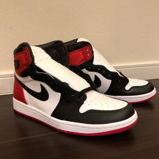 NIKE - 新品 NIKE AIR JORDAN 1 SATIN BLACK TOE