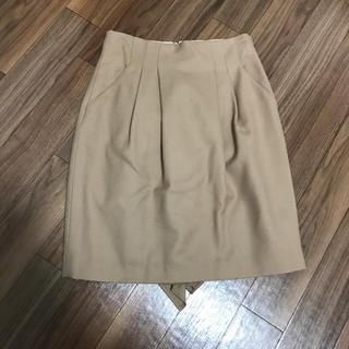 トランテアンソンドゥモード(31 Sons de mode)のバックフリルスカート(ひざ丈スカート)