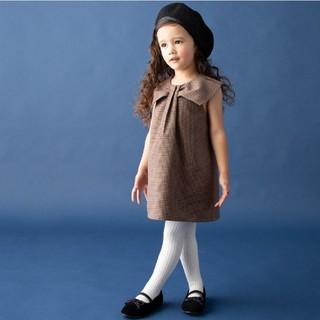 プティマイン(petit main)のリボンカラージャンパースカート(ワンピース)