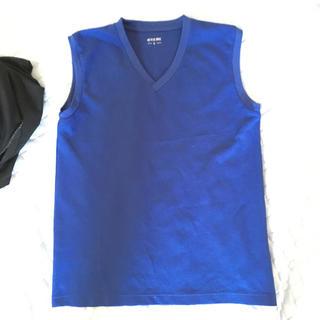 しまむら - ノースリーブシャツ 青 L①