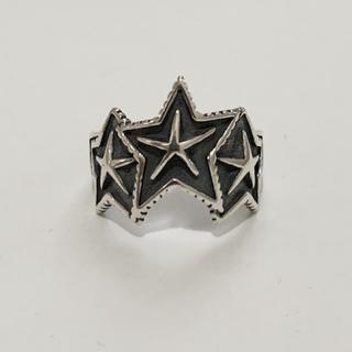 シルバー925 3連スターリング シルバーリング 星(リング(指輪))