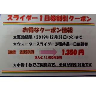 【12月末期限】ハワイアンズ ウォータースライダー割引券(遊園地/テーマパーク)