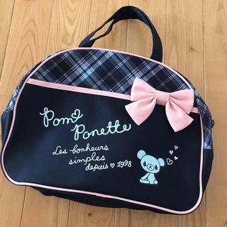 ポンポネット(pom ponette)の新品 ポンポネット 可愛いくまさんリボンのトートバッグ(トートバッグ)