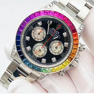 ROLEX - ロレックスオートロボットメンズ腕時計Steel Di Rainbow Circl