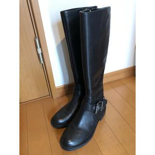 ナインウエスト(NINE WEST)のナインウエスト ロングブーツ 黒 23cm(ブーツ)