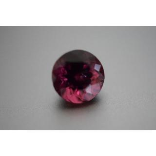 1.85ct 本物天然 ワインレッド トルマリン 丸 ルース 裸石(リング(指輪))