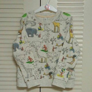 Design Tshirts Store graniph - グラニフ スウェット 120 おさるのジョージコラボ
