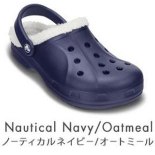 crocs - crocs クロックス レイレンラインド ボア ネイビー 27cm