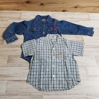ミキハウス(mikihouse)のミキハウス 子供服100  長袖 半袖シャツ 二点まとめ売り(ブラウス)