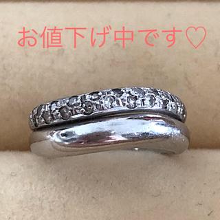 ジュエリーツツミ(JEWELRY TSUTSUMI)のPt900 ダイヤモンド0.16ct✨ピンキーリング約2号 お値下げしました❗️(リング(指輪))