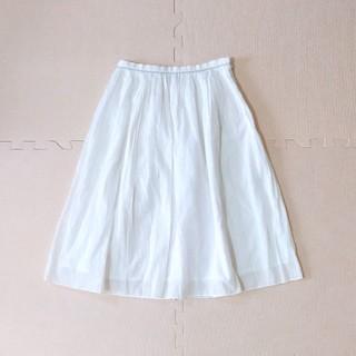アンタイトル(UNTITLED)のアンタイトル UNTITLED ギャザースカート XSサイズ 白(ひざ丈スカート)