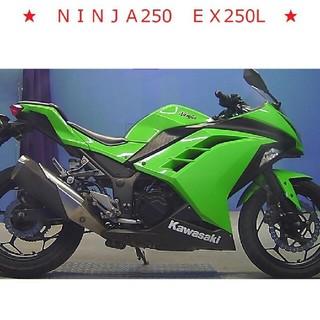 カワサキ(カワサキ)の★美車 NINJA250 EX250L 人気カワサキカラー 業者評価4点 絶好調(車体)
