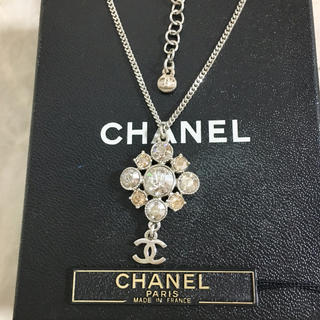 CHANEL - 正規品 シャネル ネックレス シルバー ココマーク カラーストーン クリスタル