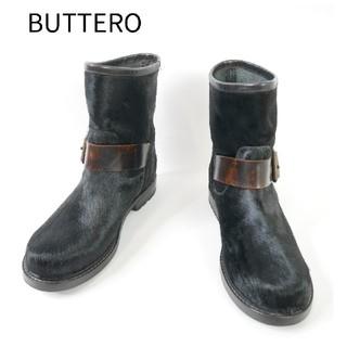 ブッテロ(BUTTERO)のBUTTERO ブッテロ 36サイズ リアルファー イタリア製 ショートブーツ(ブーツ)