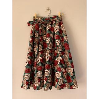 ViS - vis 花柄フレアスカート
