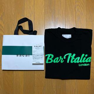 sacai - Sacai Bar Italia tee Size:3 Black