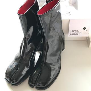 マルタンマルジェラ(Maison Martin Margiela)の新品 Maison Margiela 足袋ブーツ レザー マルジェラ 黒 メンズ(ブーツ)