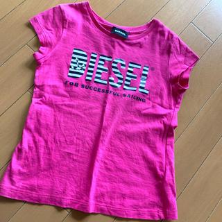 DIESEL - DIESEL  子供服  Tシャツ  ピンク  ロゴ シンプル