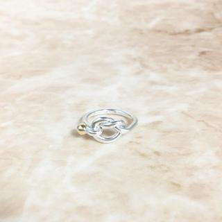 ティファニー(Tiffany & Co.)の正規品 ティファニー 指輪 コンビ シルバー ゴールド ハート ボール リング(リング(指輪))