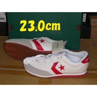 コンバース(CONVERSE)のコンバースlt-jg人工皮革 23.0cmホワイト/レッド rx(スニーカー)