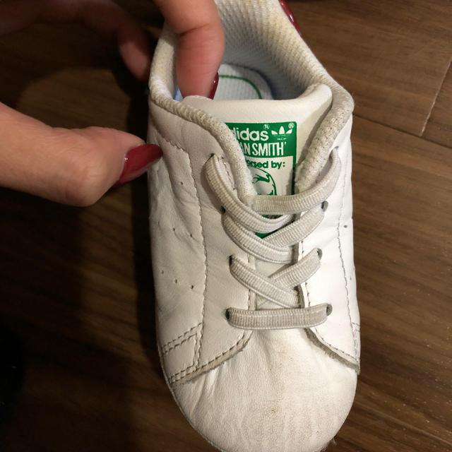 adidas(アディダス)のベビー スタンスミス 12㎝ キッズ/ベビー/マタニティのベビー靴/シューズ(~14cm)(スニーカー)の商品写真