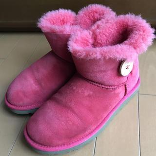 アグ(UGG)のUGG ムートンブーツ ベイリーボタン  ピンク(ブーツ)