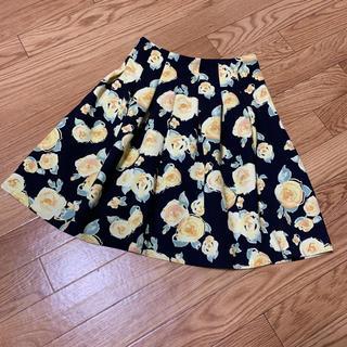 トランテアンソンドゥモード(31 Sons de mode)の美品 31 Sons de mode 花柄スカート(ミニスカート)