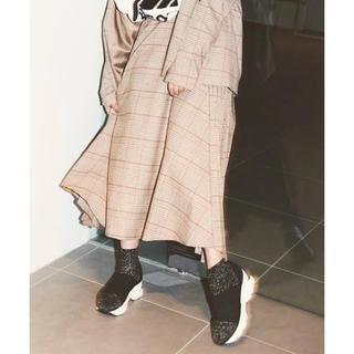 スナイデル(snidel)のSNIDEL オーバーサイズウールジャケット ウールプリーツスカート セット(ひざ丈スカート)