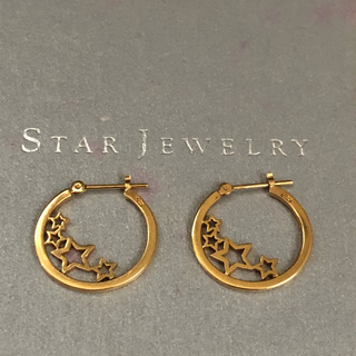 STAR JEWELRY - スタージュエリー k18 ホシ⭐︎フープピアス✨GOLDギャランティ付き