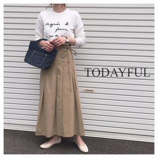 トゥデイフル(TODAYFUL)の新品 TODAYFUL ラップアラウンドチノスカート36(ロングスカート)