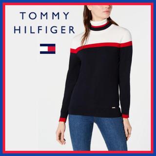 トミーヒルフィガー(TOMMY HILFIGER)の日本未入荷★トミーヒルフィガー タートルネック ニットシャツ(ニット/セーター)
