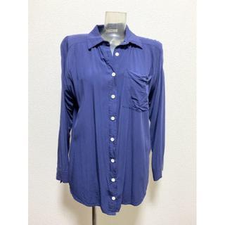 ムルーア(MURUA)のムルーア 藍色のシャツ ブラウス 濃紺 ネイビー シンプル(シャツ/ブラウス(長袖/七分))